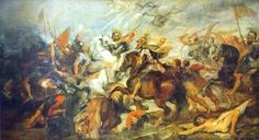 The Battle of Ivry. Maria de' Medici Cycle - Rubens: Maria de Medici commissioned Peter Paul Rubens in 1622 for two galleries at the Palais du Luxembourg, making monumental paintings; one gallery with works of her own life and the other gallery would provide about her deceased husband Henry IV. Rubens produced 24 monumental paintings in three years time. Twenty-one of the paintings depict Marie's own struggles and triumphs in life...