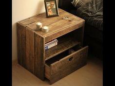 Nachttisch selber bauen. Möbel aus Europaletten. Diy nachttisch. - YouTube