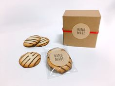 20 round handmade Kraft stickers,handmade labels,gift labels,favor packaging,gift packaging,cute stickers,kraft label,Kraft sticker,handmade by CookieboxStore on Etsy