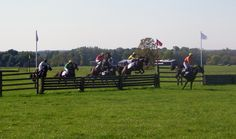 Genesee Valley Hunt Races- Final jump. Photo by James L. Root