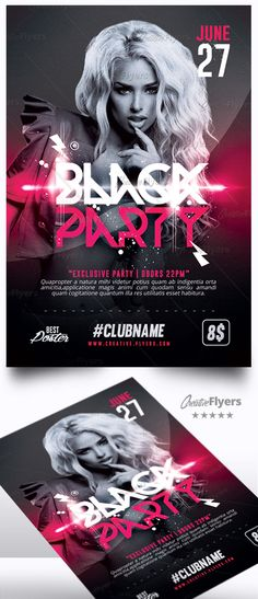 Creative Club Flyer is a premium Photoshop PSD flyer / poster template designed by Creative Flyers perfect to promote your Club Party ! #black #party #flyers #templates #psd #photoshop #creative #creativeflyers