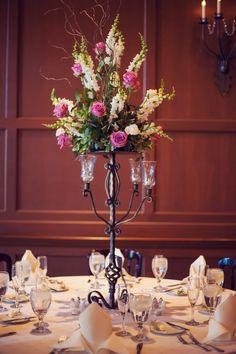 #Bright #Centerpiece #Wedding #Pink #Green #Yellow