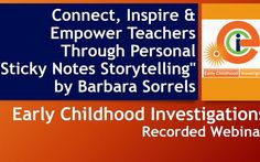 A webinar offered by Early Childhood Investigations Webinars presented by Barbara Sorrels on May 18,2011. To view all of the free live webinars in our lineup, go…