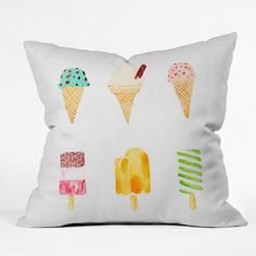 Laura Redburn Ice Cream Selection Throw Pillow | DENY Designs Home Accessories