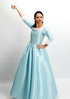 2016 Hamilton The Musical - Eliza Schuyler Eliza Hamilton Costume, Hamilton Halloween Costume, Hamilton Cosplay, Hamilton Outfits, Sister Costumes, Eliza Schuyler, Dress Skirt, Dress Up, Broadway Costumes