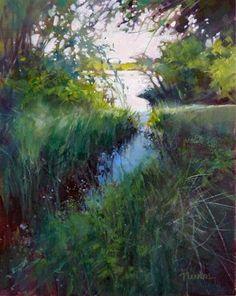 """""""Oil, Color Study 4"""" - Original Fine Art for Sale - © Barbara Benedetti Newton"""