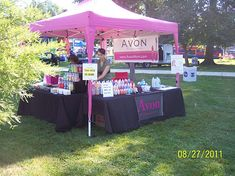 Another view of my Avon tent/table