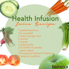 Health Infusion Juice #Recipe #EatClean #Boxtera #SnackSmart