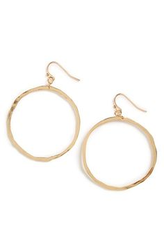 Free shipping and returns on BP. Hammered Circle Earrings at Nordstrom.com. Add a bit of rustic shine to your look with these golden hoop earrings featuring a lightly hammered texture.