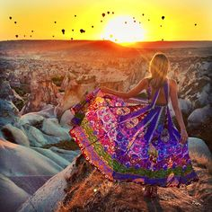 Printed Maxi Dress Bohemian Resort Style Inspiration: Tuula Vintage in Cappadocia, Turkey