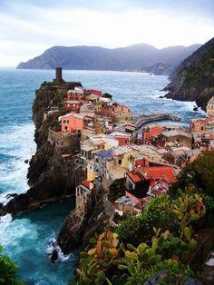 Edge of the Sea. Vernazza, Italy.
