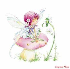 Fairy~ Marina Fedotova reminds me of herself the elf Art And Illustration, Fairy Dust, Fairy Land, Fairy Tales, Decoupage, Art Mignon, Flower Fairies, Faeries, Cute Art
