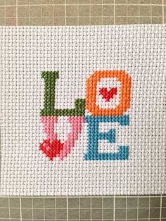 Downloadable Valentine's Day Cross-stitch Craft