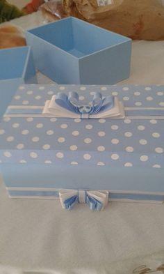 Caixinha para presentes Azul.