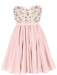 Strawberry Fields Dress | Pink Printed Minuet Bridesmaid Dresses | Rickety Rack
