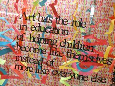 Art: Helping children become like themselves.