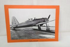 Vintage WWII Plane Vultee Vanguard Fighter USA Army Air Corps Paper Card Picture and Statistics by KansasKardsStudio on Etsy
