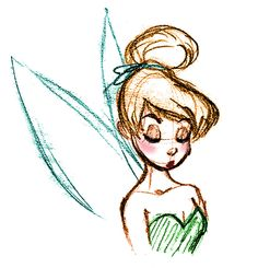 Tinker Bell sketch.