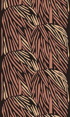 AINO-MAIJA METSOLA, Aamunkoi (engl.Sunrise), large scale continuous fabric pattern for Marimekko, Finland 2009. Material silkscreen printed cotton fabric. / Pinterest