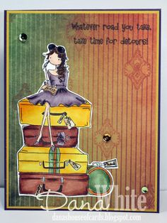 Uptown Girl MOLLY takes a Detour  card - image from Stamping Bella