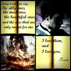 A quote from Clockwork Princess. Will and Tessa. I JUST DIED FROM FEELS