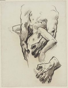 """Sketch for The Judgement - Figure in Center""  John Singer Sargent"