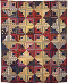 log cabin quilt patterns | Log cabin Quilt, 1875-1900 One of the most popular American quilting ...