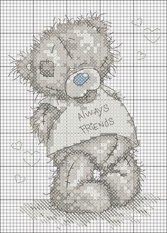 Punto croce - Schemi Gratis e Tutorial: Raccolta di teneri orsetti a punto croce