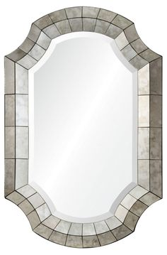 Clarke Wall Mirror, Antiqued Mirror