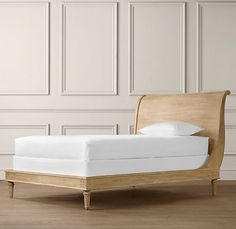 Emelia Sleigh Bed Without Footboard Amazing Design