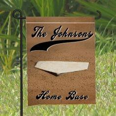 Garden Flags - Yard Flags with Baseball Theme personalized Baseball Dugout, Baseball Playoffs, Baseball Tips, Giants Baseball, Baseball Party, Baseball Cleats, Baseball Field, Baseball Tickets, Baseball Uniforms