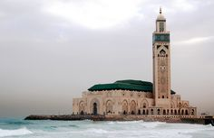 King Hassan II Mosque in Casablanca, Morocco « Islamic Arts and Architecture Hassan 2, Holiday Resort, Mission Impossible, Place Of Worship, Filming Locations, Walking Tour, Wonderful Places, Madrid, Travel Destinations
