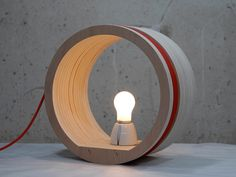 19 Tempting Wooden Lamp Designs That Are Worth Seeing Wooden Slats, Wooden Art, Desk Light, Lamp Light, Cool Lighting, Lighting Design, I Like Lamp, Concrete Light, Wood Lamps