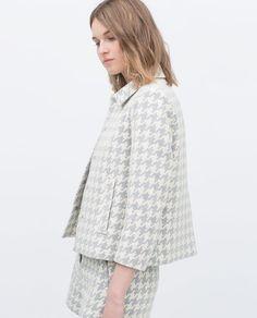 Image 3 of HOUNDSTOOTH BLAZER from Zara
