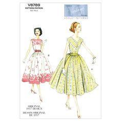 Mccall Pattern V8789 A5 (6-8-10-Vogue Pattern