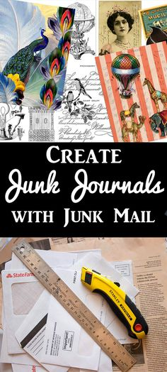 Repurpose Junk Mail for Junk Journals! Fun craft technique with Heather Tracy for The Graphics Fairy.