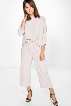 Georgia Premium Woven Crop Trouser