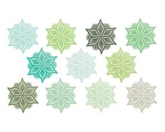 Doily Clipart // Digital Lace // Green Lace // by thepaperpegasus, #green #winter #clipart