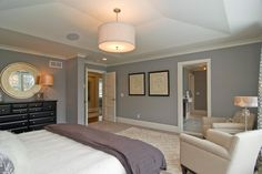 New Construction Edina Arden Park traditional bedroom-colors Master Bedroom Design, Home Bedroom, Bedroom Ceiling, Master Bathroom, Master Room, Master Bedrooms, Dream Bedroom, Master Suite, Bedroom Photos
