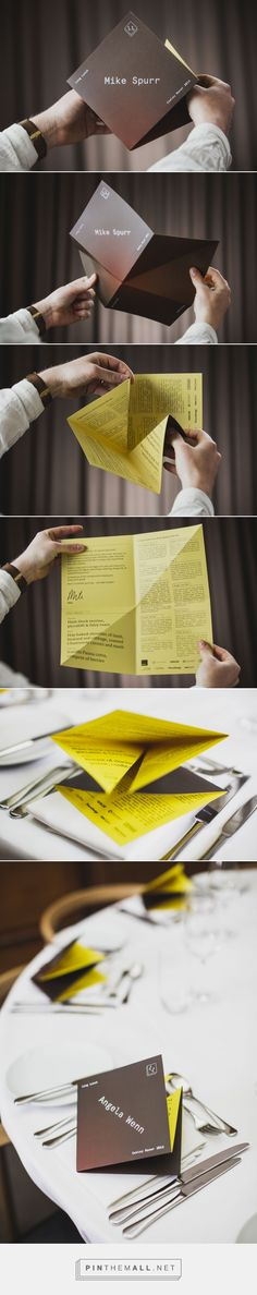 Bespoke fold menu design - Fiasco Design... - a grouped images picture - Pin Them All