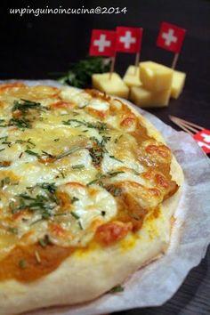 Un pinguino in cucina: Pizza con zucca e Emmentaler DOP - Pumpkin and Emmentaler Pizza