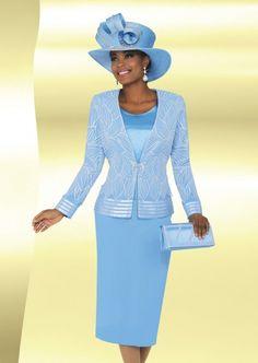 Ben Marc 47763 Womens Sheer Church Suit with Hat f6ca536dec0