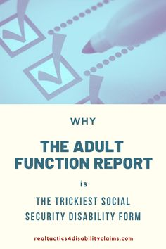 Learn why the Adult Function Report form is often used by Social Security to deny your disability claim, and what it takes to complete this form properly. Arthritis Pain Relief, Rheumatoid Arthritis, Fun To Be One, How To Find Out, Disability Help, Multiple Sclerosis, Medical Conditions, Physical Activities