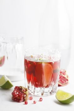 Pomegranate Lime Margarita