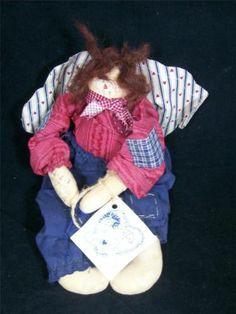 Genuine 1994 Marty Maschino Signed Attic Babies #203 Rag Doll EUC $64
