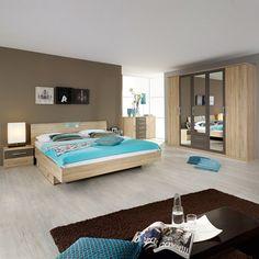 Schlafzimmerset Valence (4-teilig)- Eiche sonoma Dekor/Lavagrau 599,99