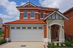 The Brisbane - By Plunkett Homes  NarrowLotHomes.com.au Storey Homes, Perth, Brisbane, Types Of Houses, Kitchen Colors, Custom Design, The Unit