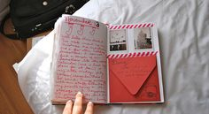 Homemade journal depicting our year together...how cute! I'm going to do this one year :D