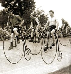 A penny-farthing race at Herne-Hill, London - 1 July 1932