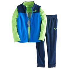 Boys 4-7 PUMA 3-pc. Vest, Graphic Tee & Pants Set, Size: 6, Blue Other